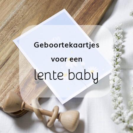 Geboortekaartjes voor een lente baby