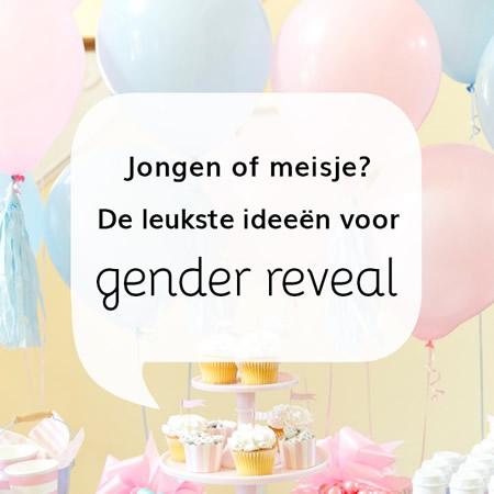 Gender reveal ideeën