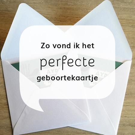 Het perfecte kaartje