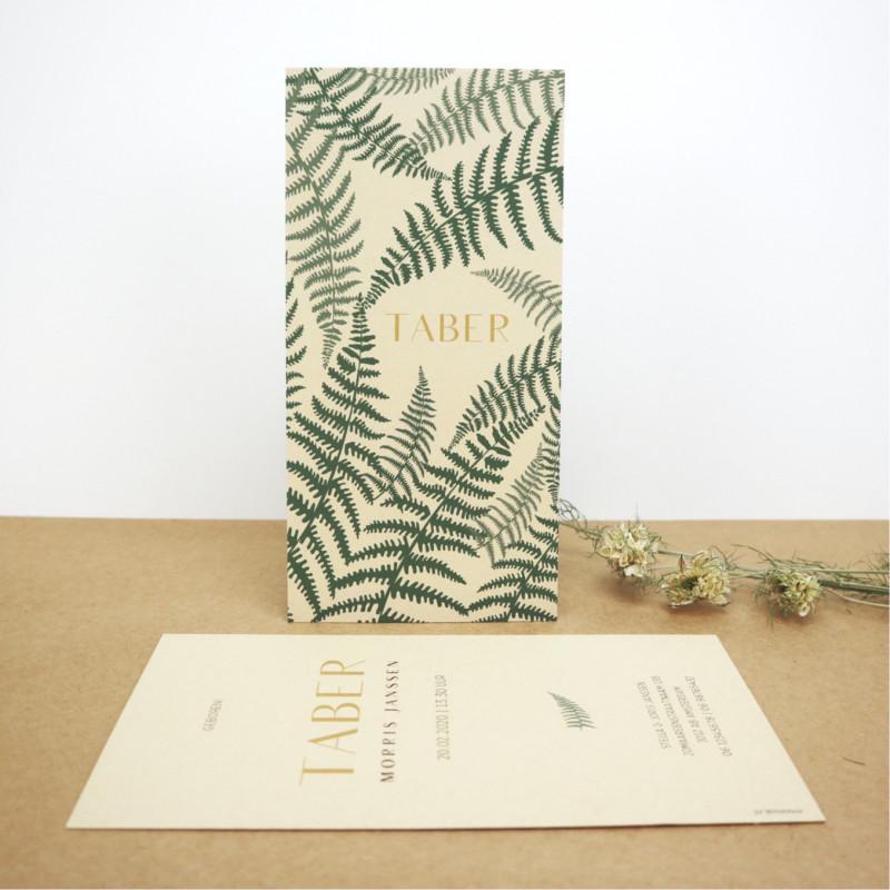 Geboortekaartje Ecologisch papier kraft