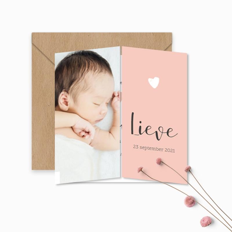 Geboortekaartje Foto tweeluikje