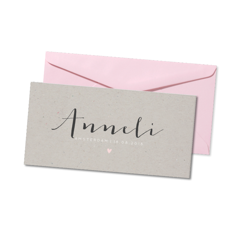Geboortekaartje Geboortekaart - Anneli