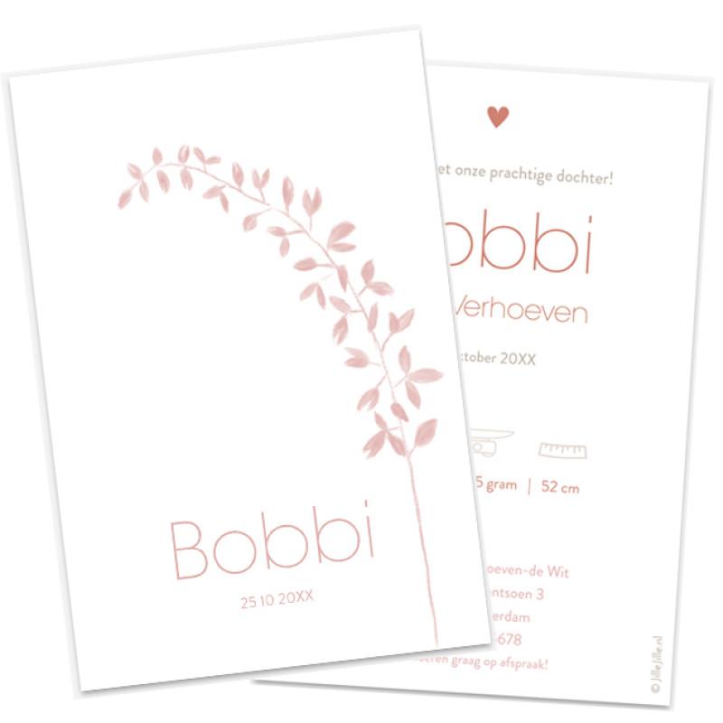 Geboortekaartje Geboortekaart label takje