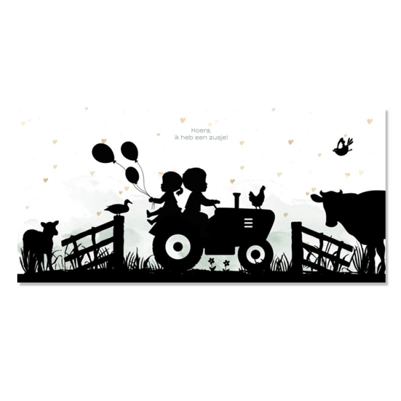 Geboortekaartje Geboortekaartje boerderij