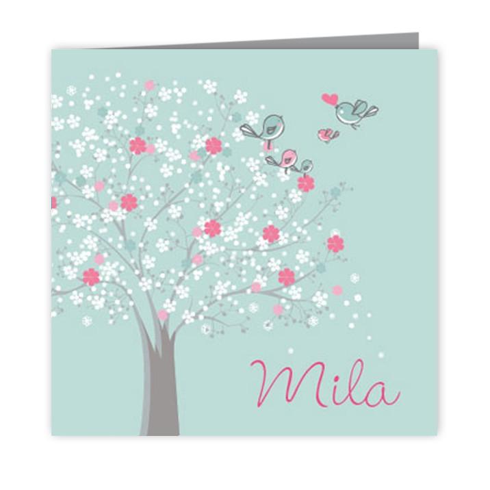 Geboortekaartje Gupje Mila