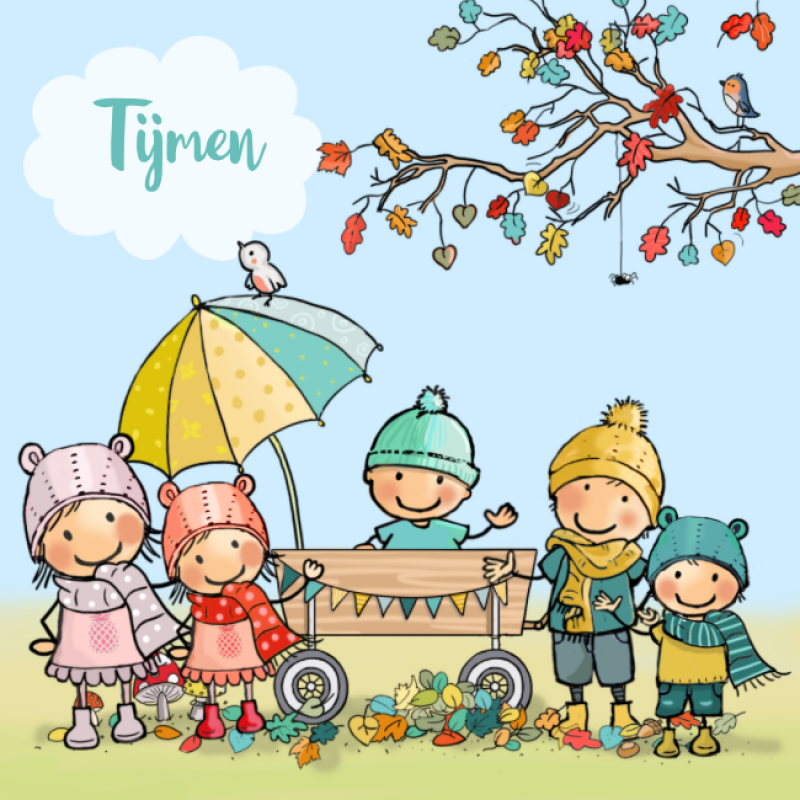 Geboortekaartje herfst - 5e kindje
