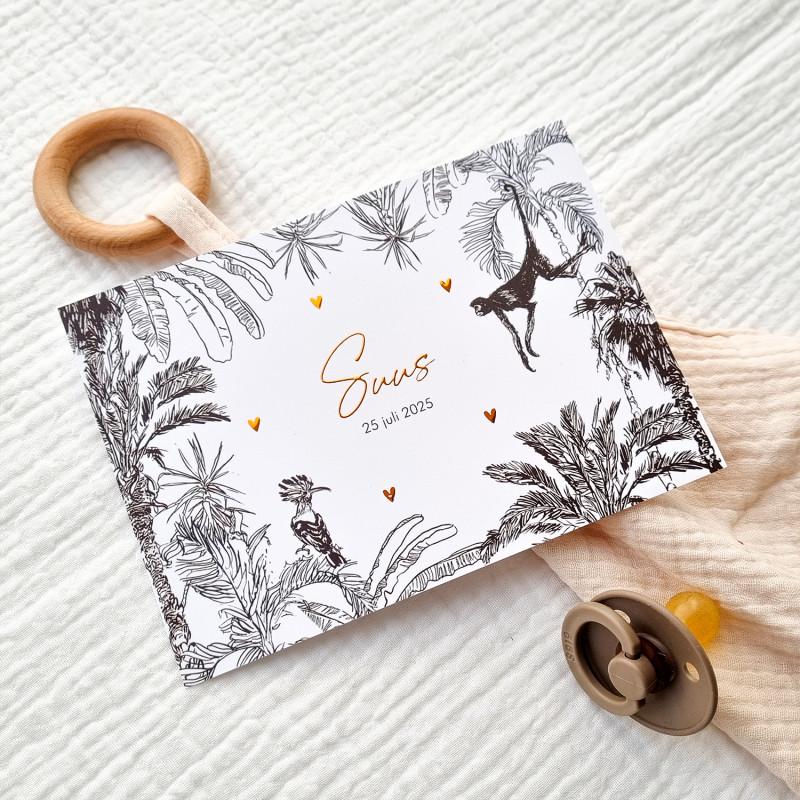 Geboortekaartje Jungle met koperfolie