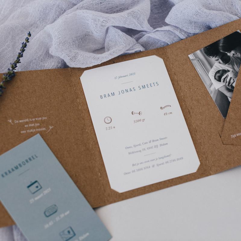 Geboortekaartje Kraft pocketfold