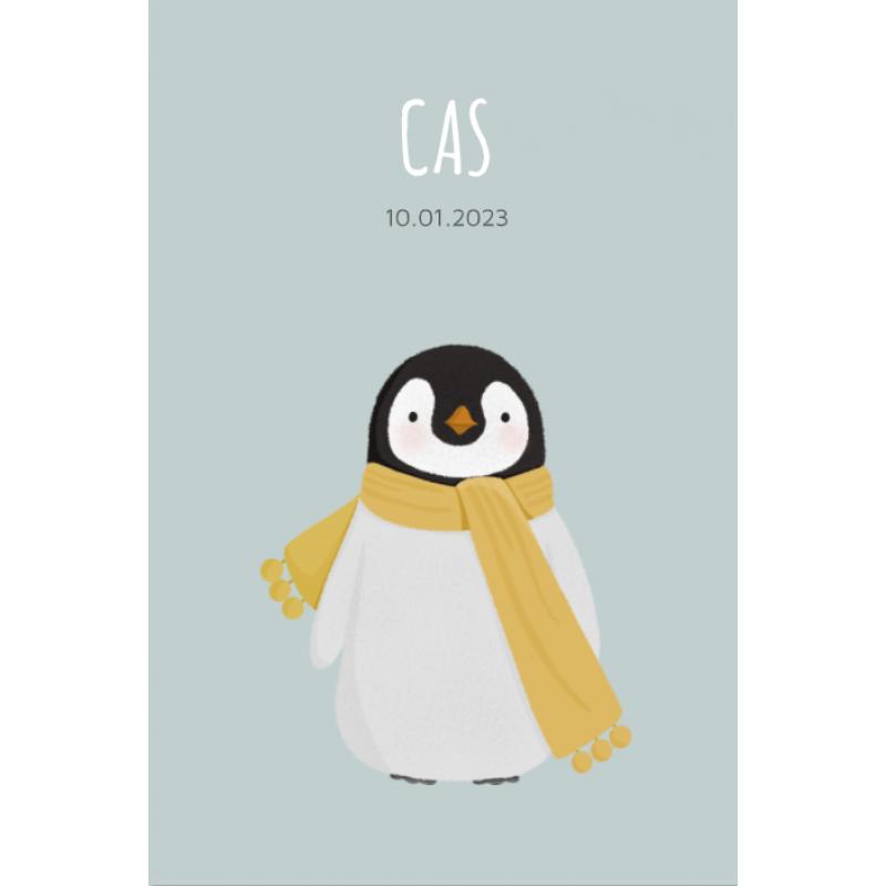 Geboortekaartje pinguin jongen