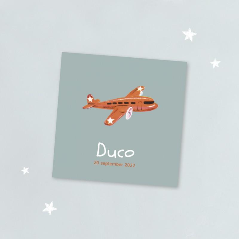 Geboortekaartje Rood vliegtuigje