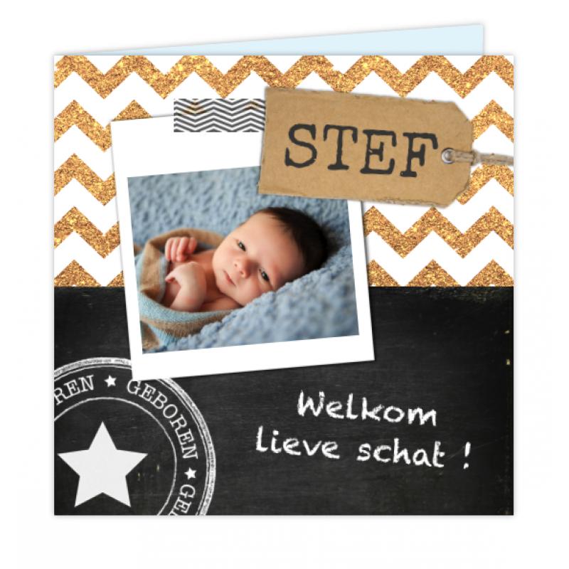Geboortekaartje Stoer Foto Geboortekaartje