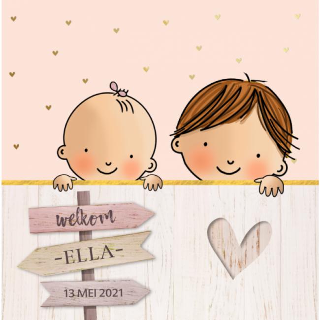 Geboortekaartje 2de kindje