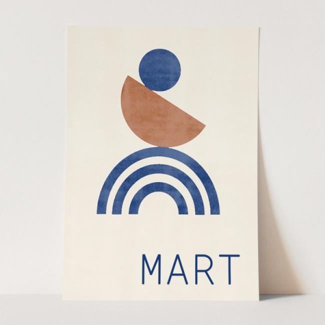 Geboortekaartje abstract  kaartje