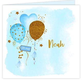 Geboortekaartje Balonnen Geboortekaartje
