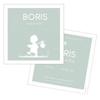 Geboortekaartje Boris