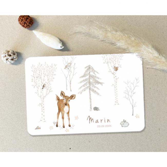 Geboortekaartje Bosdieren hertje uil