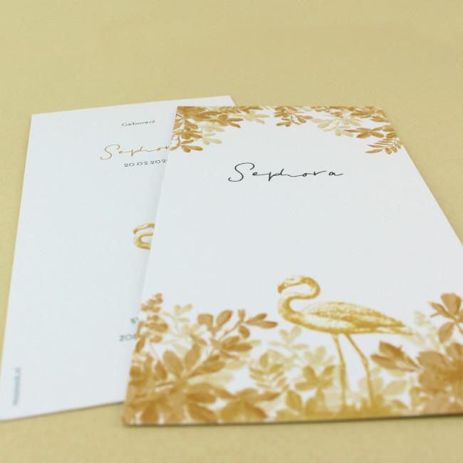 Geboortekaartje Botanische print