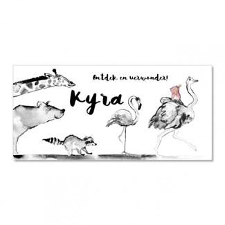 Geboortekaartje Dieren feest  |  Kyra
