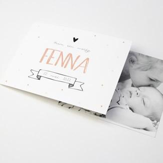 Geboortekaartje DIY confetti en foto