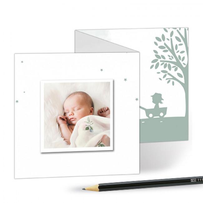 Geboortekaartje drieluikje tweede kind