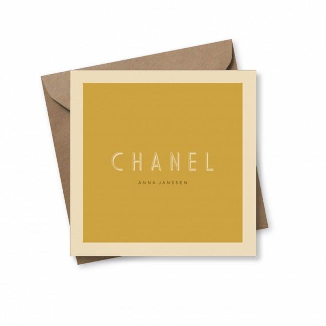 Geboortekaartje Echt karton Chanel