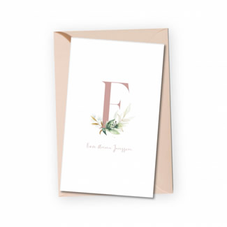 Geboortekaartje Fiore - waterverf bloemen