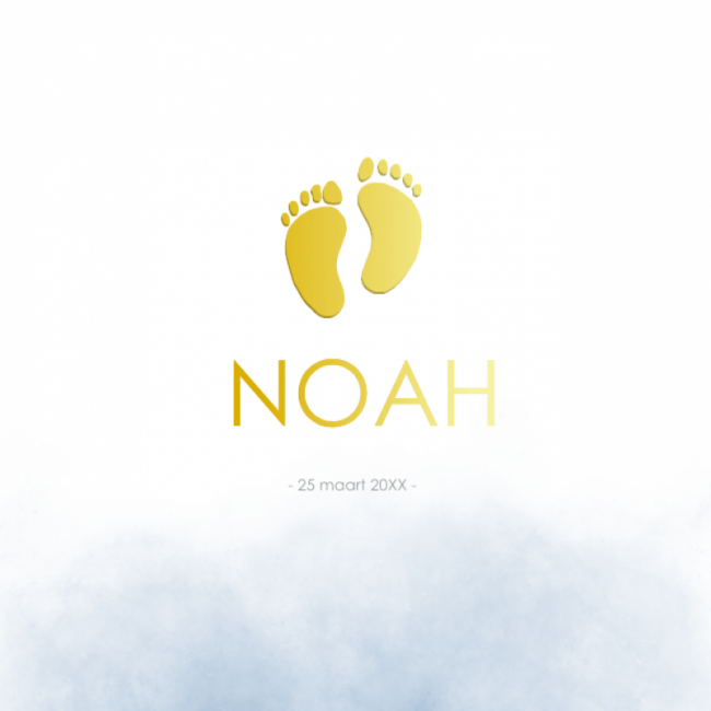 Geboortekaartje Foliedruk voetje