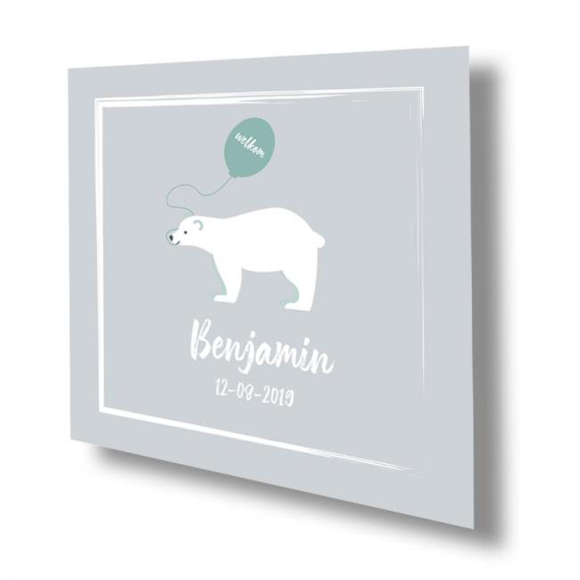 Geboortekaartje Geboorte kaart ijsbeer