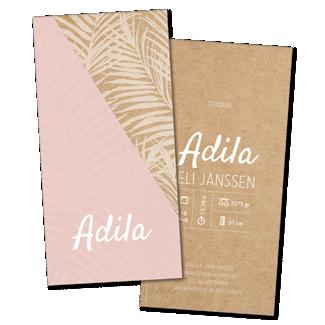 Geboortekaartje geboortekaart - Adila
