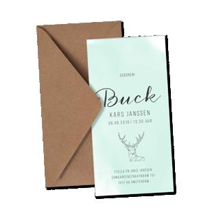 Geboortekaartje Geboortekaart - Buck