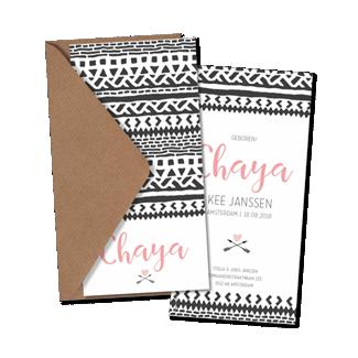 Geboortekaartje Geboortekaart - Chaya