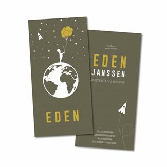 Geboortekaartje Geboortekaart - Eden