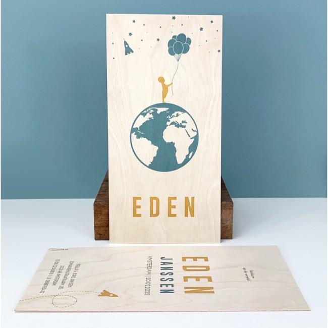 Geboortekaartje Geboortekaart Eden Hout