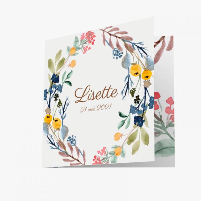 Geboortekaartje Geboortekaart Lisette
