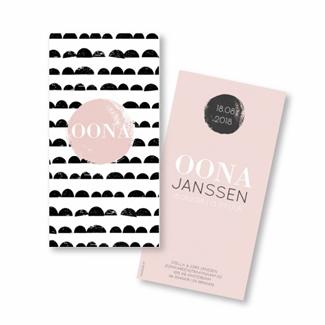 Geboortekaartje Geboortekaart - Oona