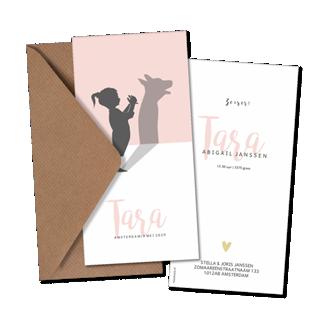 Geboortekaartje Geboortekaart - Tara