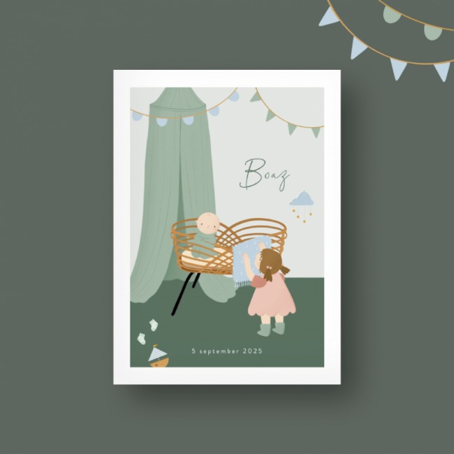 Geboortekaartje Geboortekaartje 2e kindje