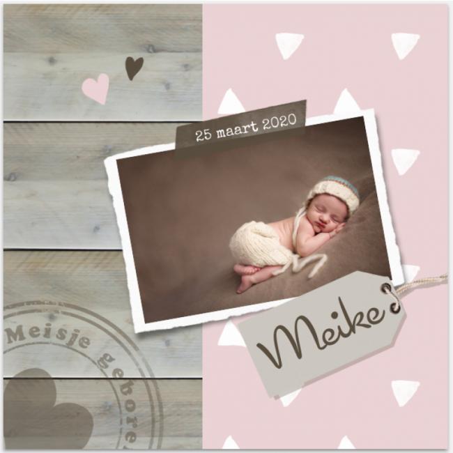 Geboortekaartje Geboortekaartje foto meid