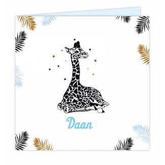 Geboortekaartje Geboortekaartje Giraffe
