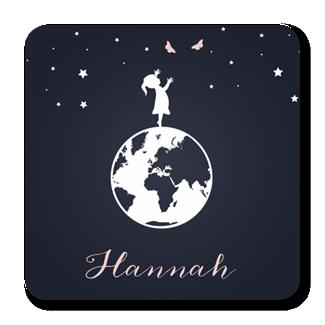 Geboortekaartje Geboortekaartje Hannah