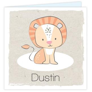 Geboortekaartje Geboortekaartje leeuw