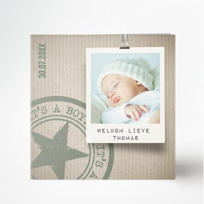 Geboortekaartje Geboortekaartje polaroid