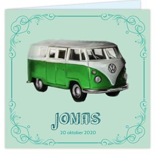 Geboortekaartje Geboortekaartje VW Busje
