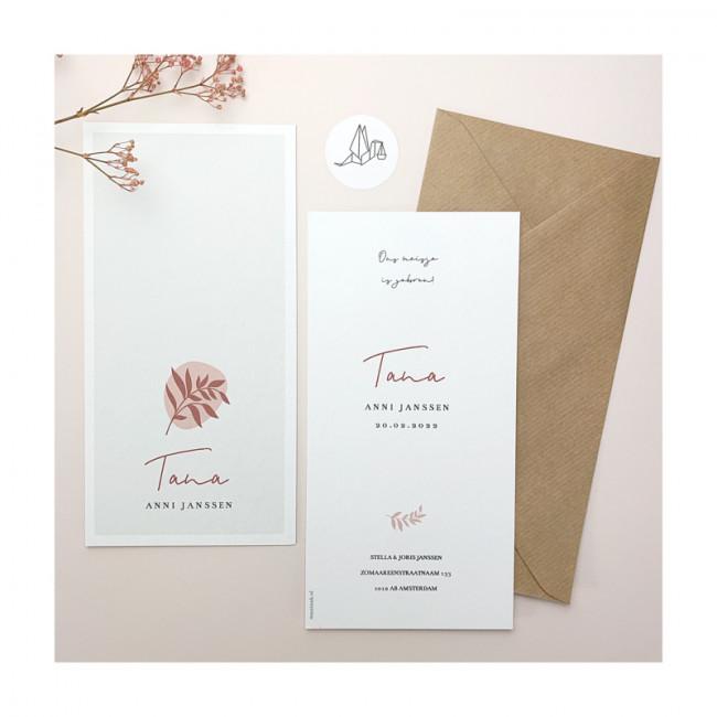 Geboortekaartje Getekend takje Tana