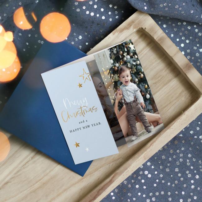Geboortekaartje Gouden sterren tweeluik