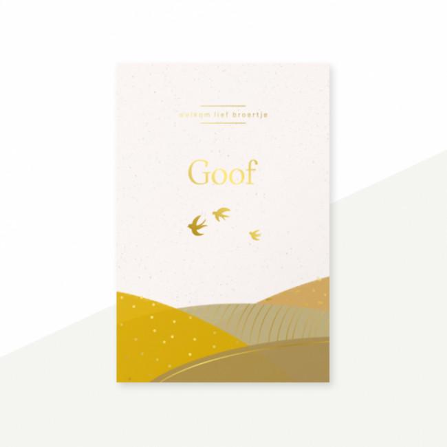 Geboortekaartje Goudfolie
