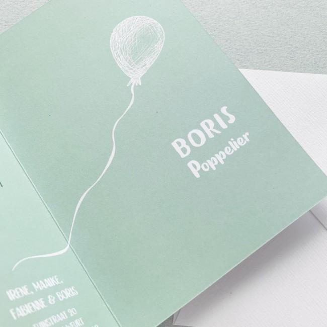Geboortekaartje Handgetekend ballonnetje