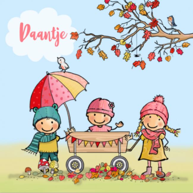 Geboortekaartje Herfst gezin