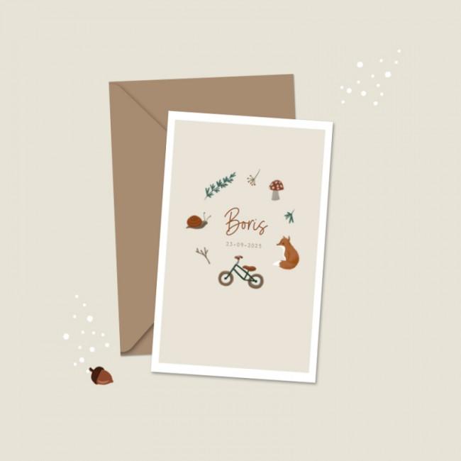 Geboortekaartje Herfst illustraties