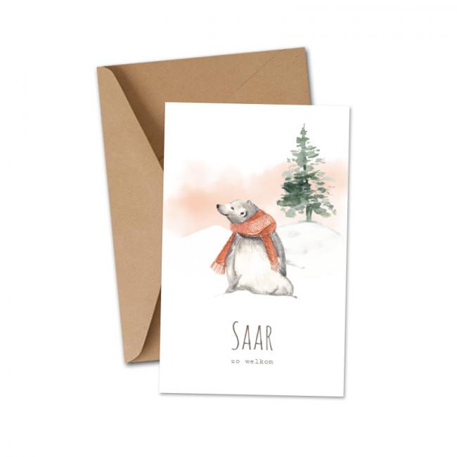 Geboortekaartje IJsbeer sjaal winter